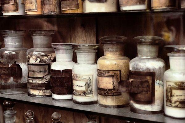 Alquimia tarros antiguos