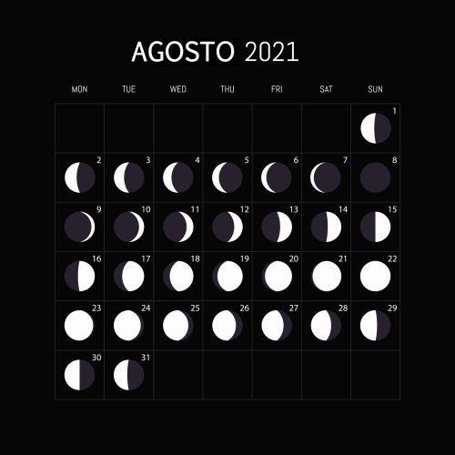 Calendario lunar agosto 2021