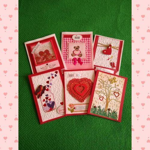 Tarjetas corazón de San Valentín