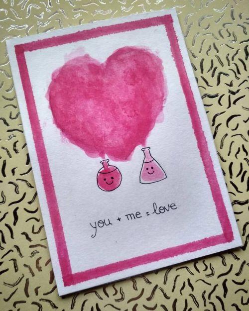 Tarjeta corazón dibujado con mensaje de amor