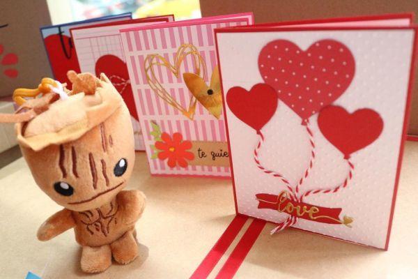 Tarjetas de San Valentín con manualidad