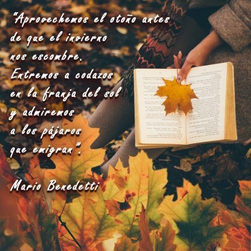 Frase de otoño Mario Benedetti