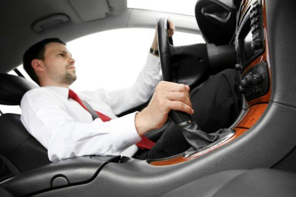 Guy About To Crash Car