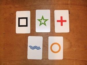 Cinco cartas Zener