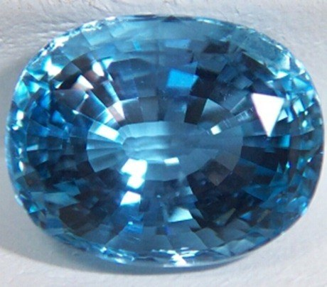 aquamarine no heat GEMMY 4.16 ct OV-CU