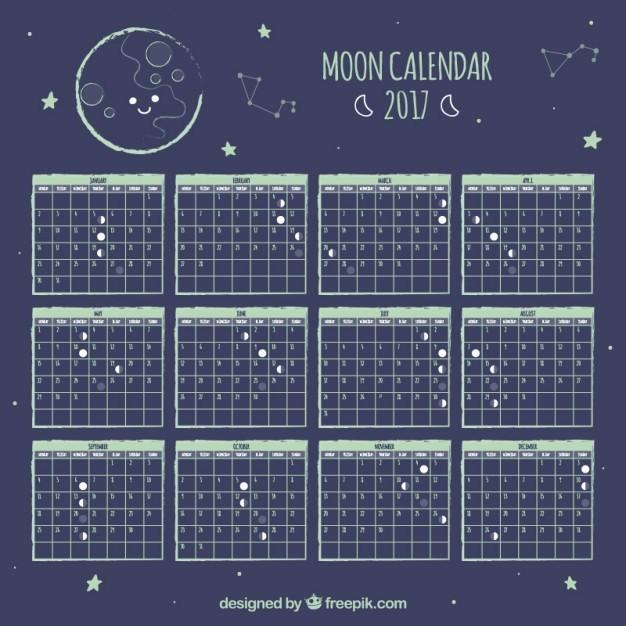 Calendario lunar enero 2018 for Calendario lunar de hoy