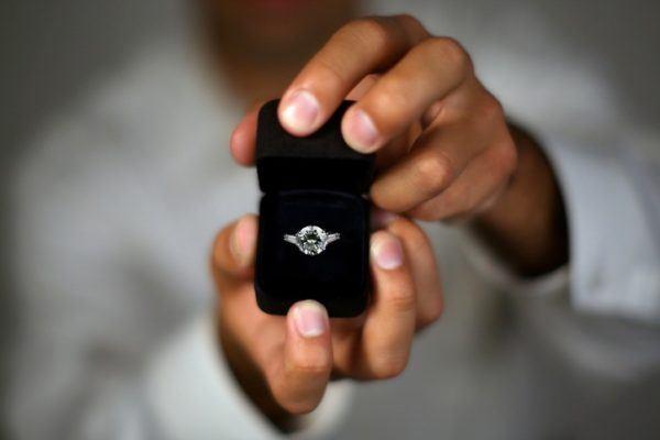 Sonar peticion mano anillo de compromiso
