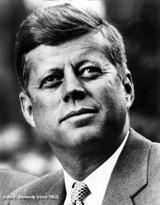 John Kennedy portrait with caption_circa 1962